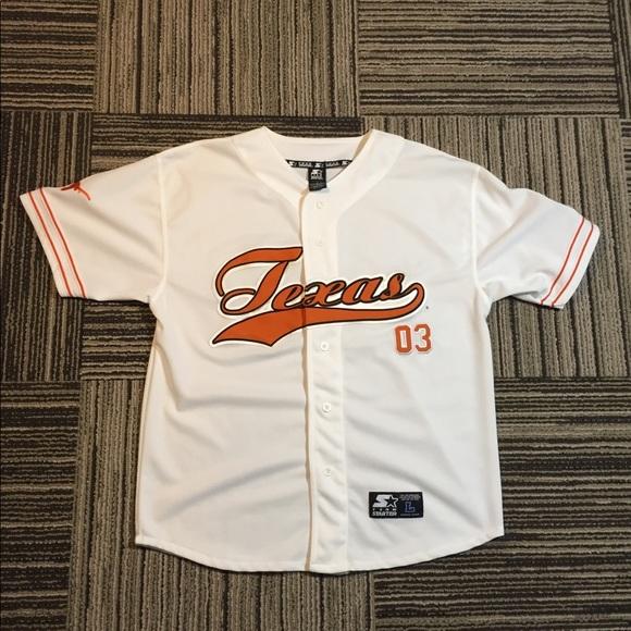 super popular b7778 bca82 Vintage Texas Longhorn Starter Baseball Jersey